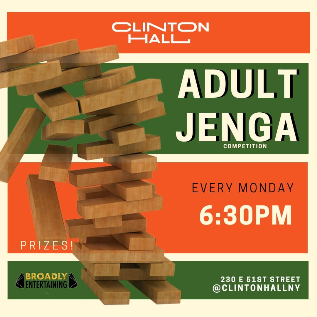 Adult Jenga At Clinton Hall