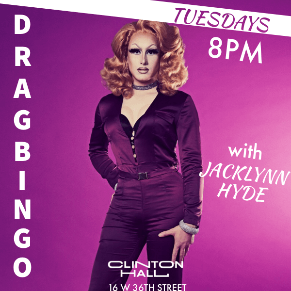 Clinton Hall Drag Bingo