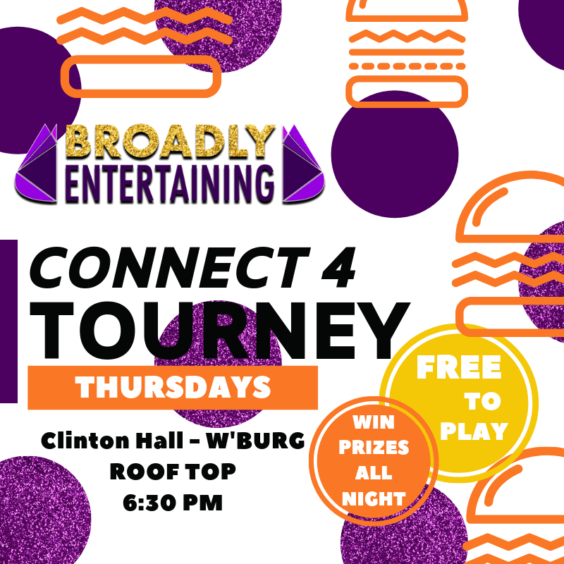 Clinton Hall Connect 4 Event