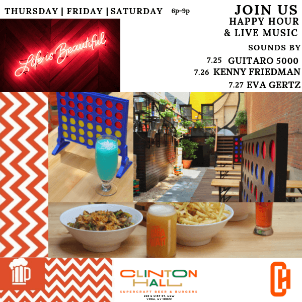 Happy Hour & Live Music at Clinton Hall
