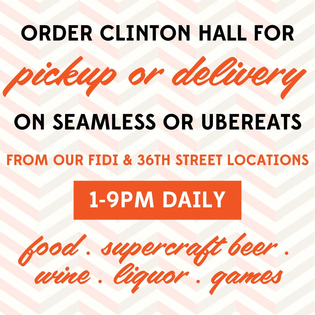 Clinton Hall Delivery